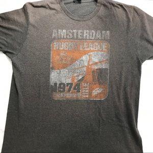 VTG Men's T-shirt Amsterdam rugby. Size LARGE